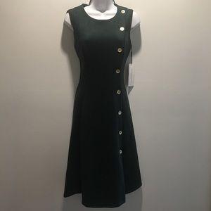 Calvin Klein Olive Green Button Down Dress